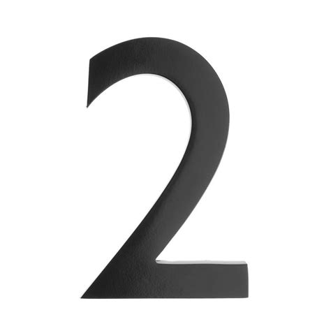 Architectural Mailboxes 5 In. Black Floating House Number