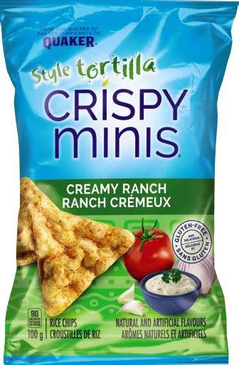 quaker crispy minis tortilla style creamy ranch rice