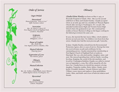funeral program templates word photoshop
