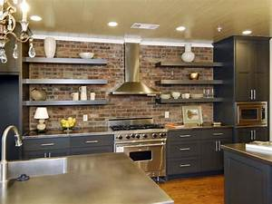 beautifully organized open kitchen shelving pictures 2051