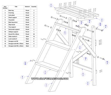 folding step ladder plan diy pinterest projects medium  ladder