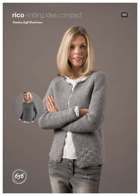 sweater  cardigan  rico creative soft wool aran