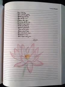 word prompt lotus flower 365thingstowriteabout