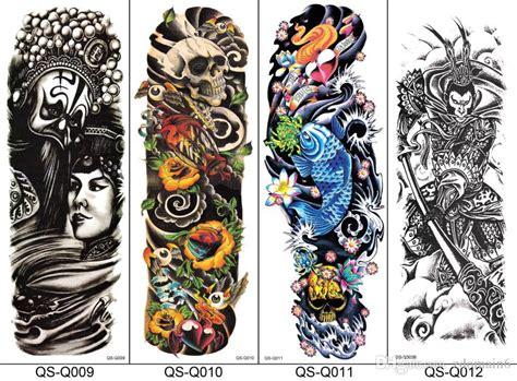full arm temporary tattoo sticker body art water transfer