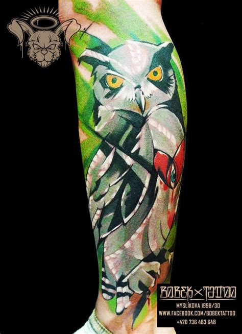 owl skull tattoos designs