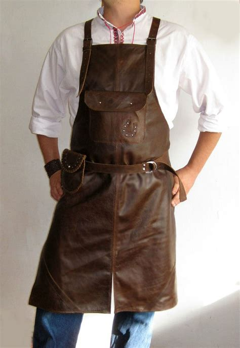 Industrial Kitchen Aprons by Leather Apron Brown Leather Apron Apron By