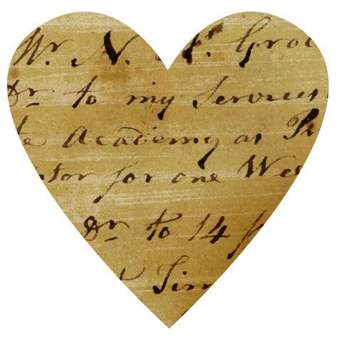 vintage ledger paper hearts call  victorian