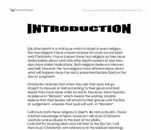 Christianity Vs Islam Essay Junior Achievement Essay Spread Of  Christianity Vs Islam Essay In Tamil The Thesis Statement In A Research Essay Should also Sample Essays High School Students  Essays On Health Care