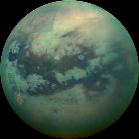 Titan S by Cassini Peers Through The Of Saturn S Moon Titan