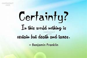 Certainty Of De... Certainty Love Quotes