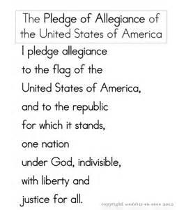 Free Printable Pledge of Allegiance Words
