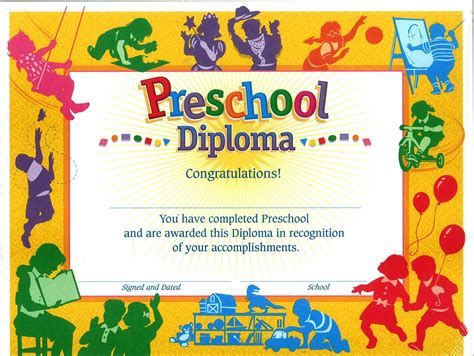 11 preschool certificate templates pdf free amp premium 355 | Silhouette Theme Preschool Certificate Template