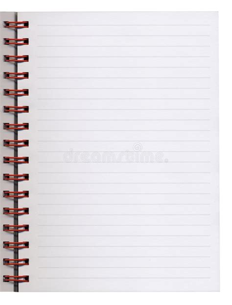 blank notebook page stock of empty white 7815894