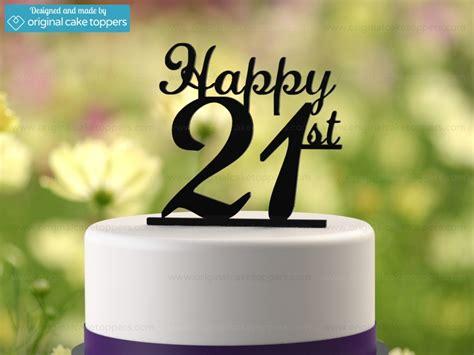 happy st black st birthday cake topper