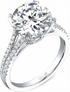 Sylvie split shank diamond engagement ring sy098 for Split shank engagement ring with wedding band