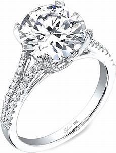Sylvie split shank diamond engagement ring sy098 for Split shank engagement ring with wedding band