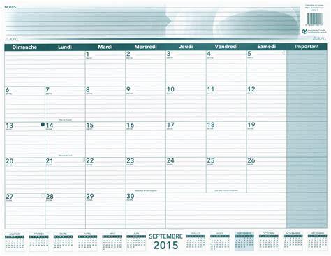 calendrier bureau livre calendrier de bureau mensuel académique 2015 2016