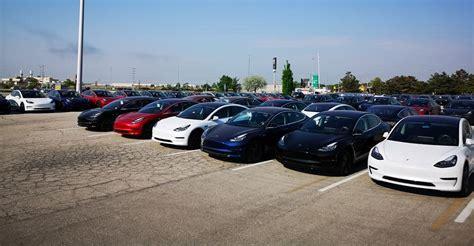 Tesla Model 3 Fleet Spotted En Masse In Canada Awaiting