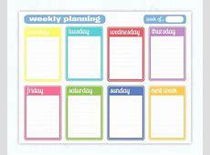 Homework Planner Template Weekly Calendar Template Daily