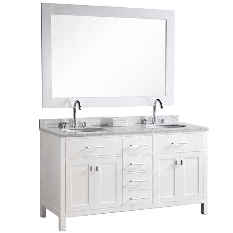 design element 61 in w x 22 in d vanity in pearl