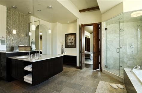 elegant contemporary master bathroom by jennifer jelinek