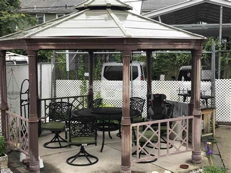 Sunjoy Industries Gazebo  Bing Images. Barker Cabinets. Marble Table Tops. Waterfall Edge. Wood And Metal Shelves. Wood Dining Bench. Couch Ottoman. Old Kitchen Cabinets. Heated Tile Floor Cost