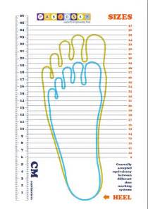 Kids Shoe Size Measurement Chart