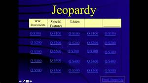 mrs q39s music blog the woodwind family With jeopardy template with sound effects