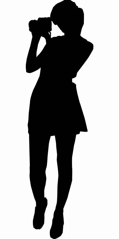 Silhouette Photographer Clip Camera Female Human Diagram