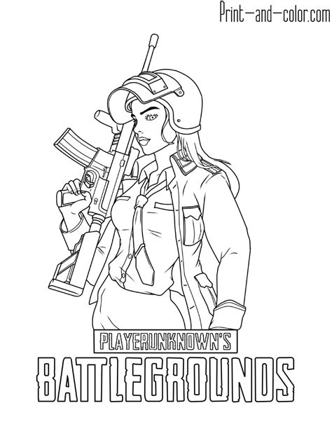playerunknowns battlegrounds coloring pages print