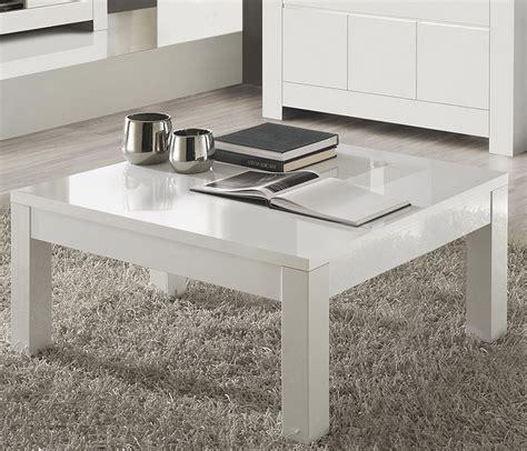 table basse blanche carre pour salon design