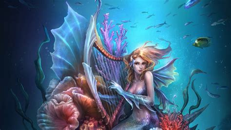 Fantasy Mermaid Art Wallpaper  1920x1080 29103