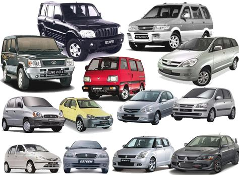 Types Of Automobiles List by Top Automobile Companies In India 2014