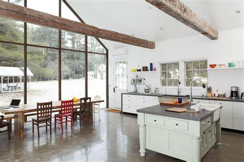 concrete dining table 4 warm and luxurious modern farmhouse decor ideas