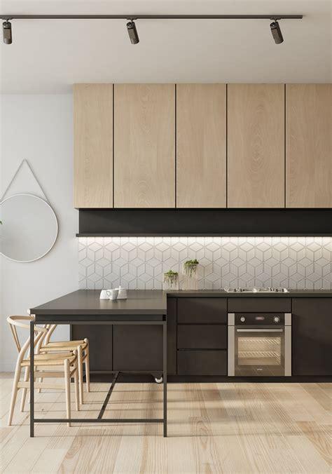 azulejo geometrico color madera natural mas negro