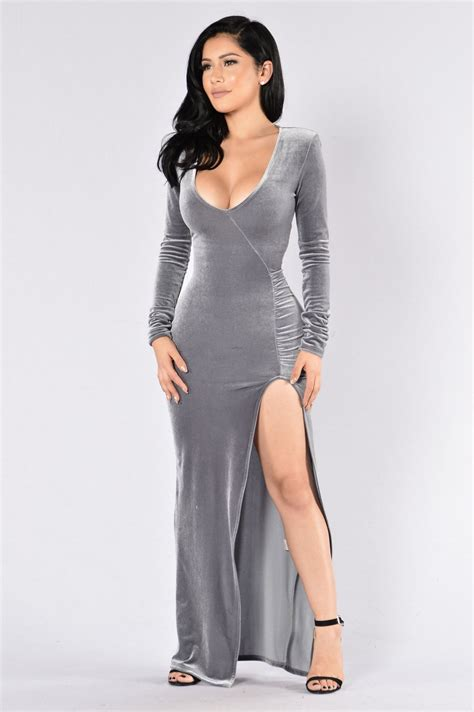 Love Sex Magic Velvet Dress Silver