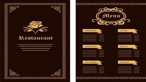 menu design templates free menu design templates template ideas