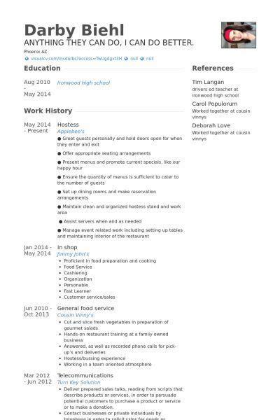 Host Resume by Resume Exles Hostess Resume Exles Resume