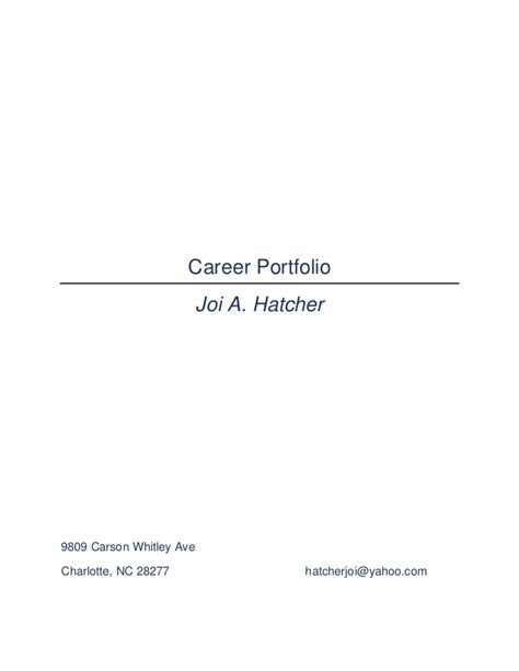 professional portfolio table of contents quotes