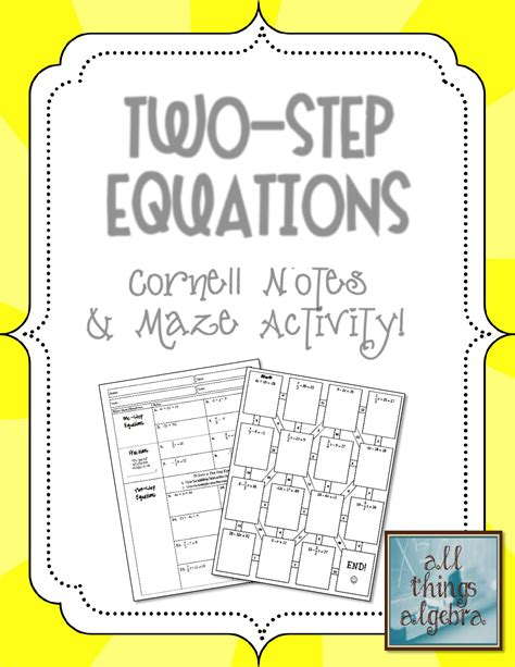 Worksheets for this concept are gina wilson all things algebra 2013 answers name unit 5 systems of equations inequalities bell. Gina Wilson All Things Algebra Two Step Equation Maze ...