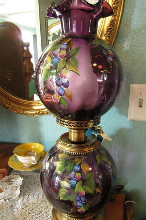 beautiful  lovely   feminine purple antique lamp
