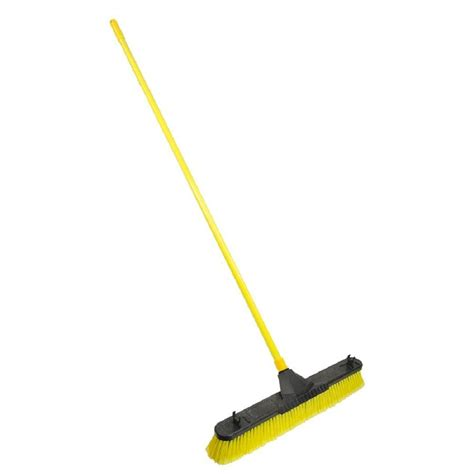 shop bulldozer 24 in poly fiber stiff push broom