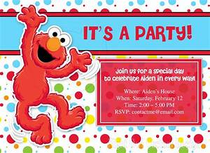 Elmo party invitations party invitations templates for Elmo template for invitations