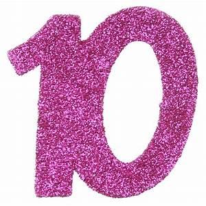 Deco Anniversaire 10 Ans : confettis anniversaire 10 ans fuchsia paillet les 6 confettis de table ~ Melissatoandfro.com Idées de Décoration