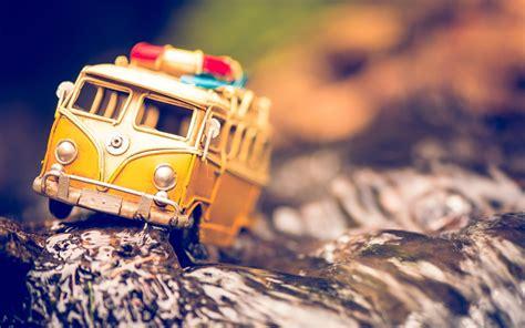 yellow  volkswagen bus toy hd wallpaper zoomwalls