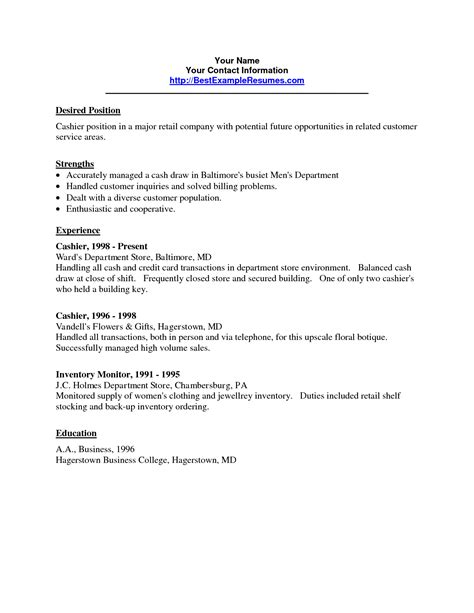 resume for grocery store cashier resume ideas