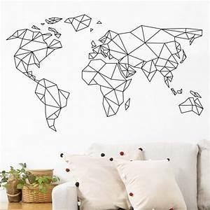 Carte Du Monde Deco Murale : les 25 meilleures id es de la cat gorie mappemonde sur ~ Dailycaller-alerts.com Idées de Décoration