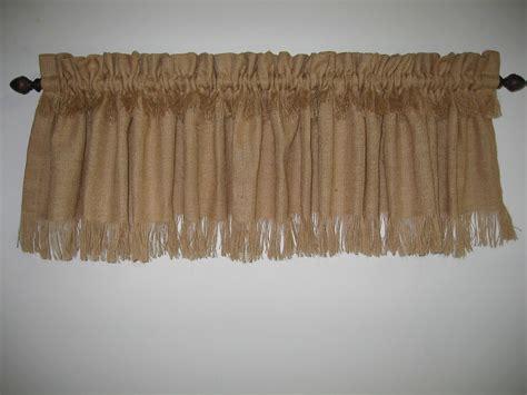 curtain 10 tips burlap valance window treatments