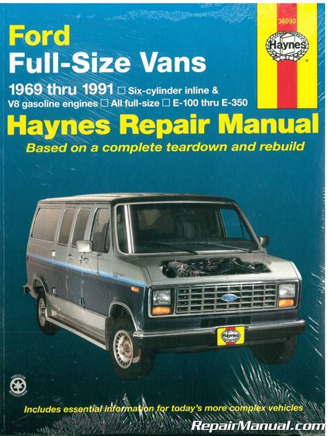 free auto repair manuals 1991 ford f series electronic throttle control haynes ford full sized van 1969 1991 auto repair manual