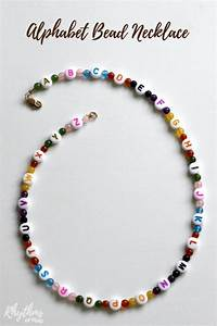 alphabet bead necklace craft for kids rhythms of play With letter bead necklace